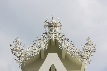 gable apex in Wat Rong Khun , Thailand White Temple Chiang Rai Province photo
