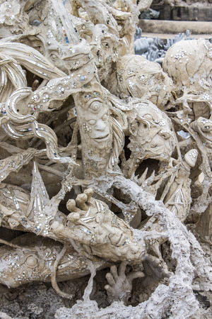 Art Hell Style in Wat Rong Khun Chiangrai Thailand photo