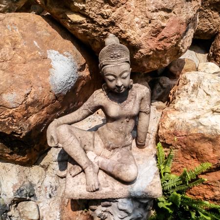 Sculpture sandstone of angel photo