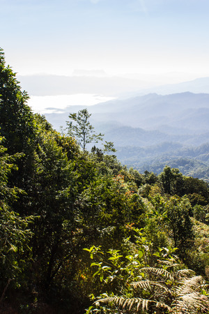 Sea Of Mist With Doi Luang Chiang Dao, View Form Doi Dam in Wianghaeng Chiangmai Thailand photo