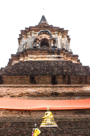 wat jedyod: Isolated - Pagoda in Wat Lok Mo Lee , Chiangmai Stock Photo