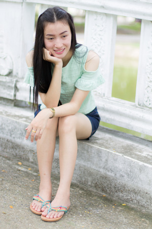 portrait of the asian girl photo