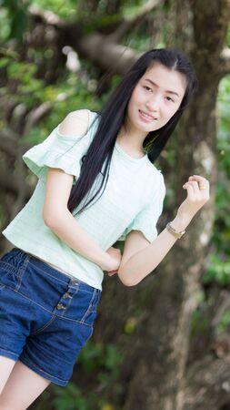 Portrait Beautiful asian woman photo