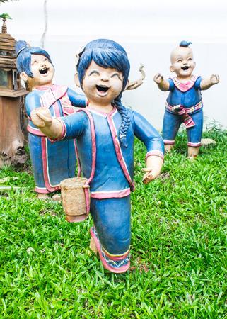 Clay of Thai children smile photo