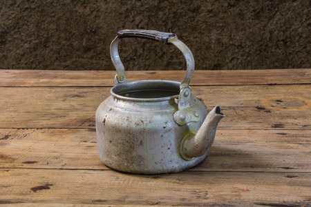 teakettle: still life with old classic kettle Stock Photo