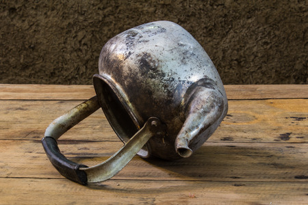 brew house: still life with old classic kettle Stock Photo