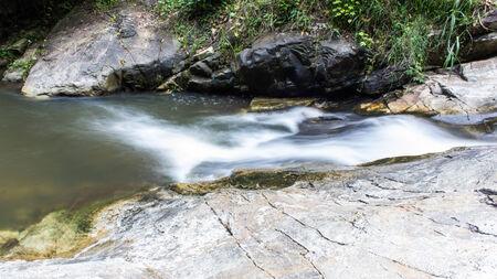 taking the plunge: Wang Bua Ban waterfall in Doi Suthep-Pui Nationnal Park , Chiangmai