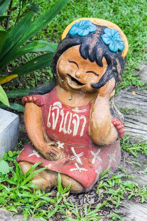 Thai children figure , Clay Thai Art photo