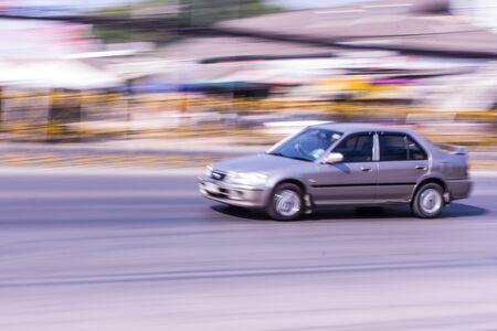 speeding: car Speeding in road