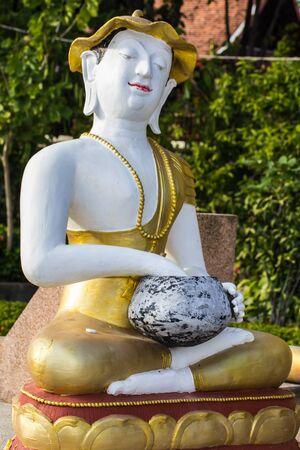 thai monk: Upagupta Thai monk statue Stock Photo