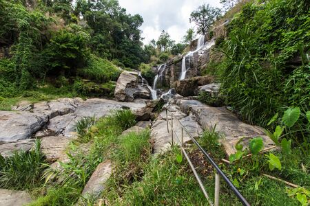 mai: Mae Klang beauty Waterfall  in Chiang Mai Province Doi Inthanon Thailand