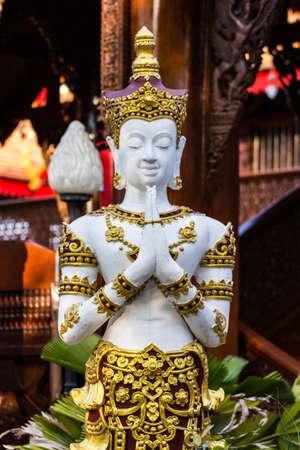 angel statue: white Thai angel statue
