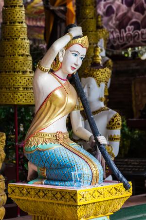isaan: Phra Mae Thorani Thai angel statue