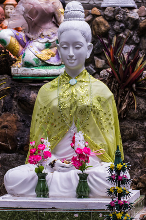 paskha: Thai white Churchwoman statue