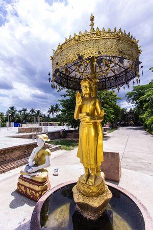 thai monk: Upagupta, Thai monk statue Stock Photo
