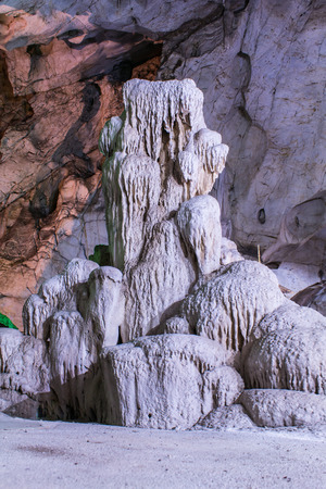 lamphun: Hanging Rock in Luang Pha Wiang cave, Lamphun Thailand