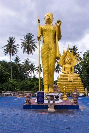 thai monk: big thai monk statue Stock Photo