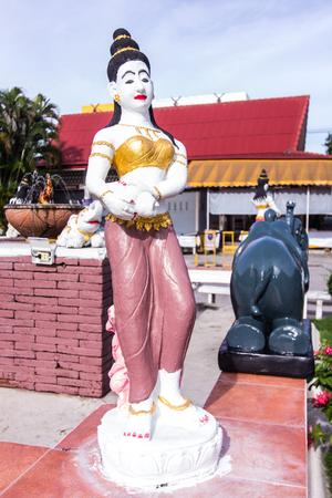 isaan: Phra Mae Thorani, Thai angel statue Stock Photo