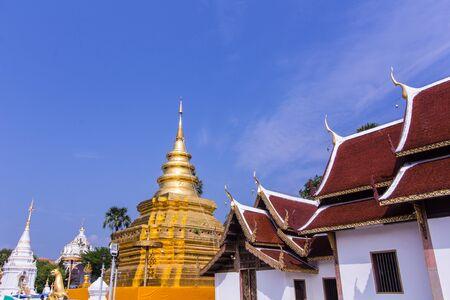 venerate: Phra That Si Chom Thong Vora Vihan pagoda, Chiangmai, Thailand