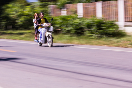 motorcycling: Motorcycling Panning In Thailand