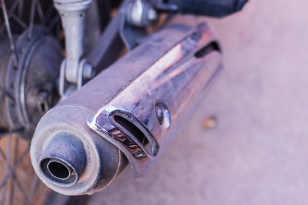 exhaust: motorcycle Exhaust Stock Photo