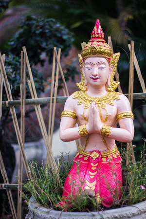 angel statue: Thai angel statue