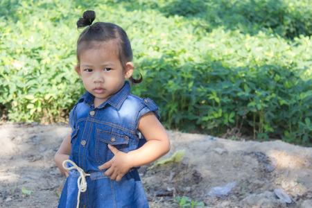 garden bean: thai girl in bean garden