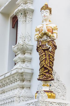 angel statue: thai white woman angel statue