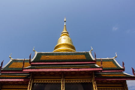 hariphunchai: Wat Phra That Hariphunchai, Pagoda in Lamphun  Thailand Stock Photo