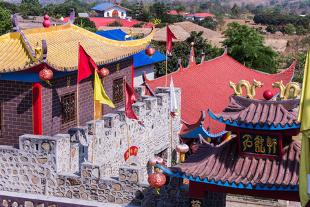 migrated: Great Wall Of China model at Santichon village Chinese style village