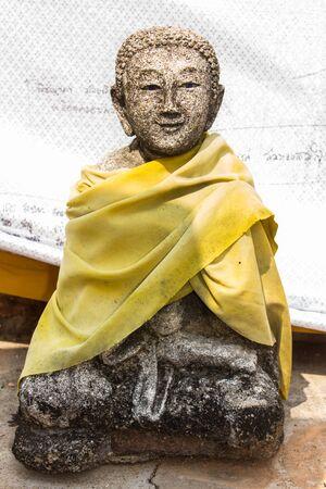 thai monk: old thai monk statue