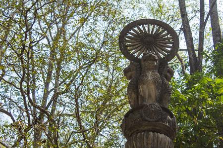 ashoka: Pillars of Ashoka in Wat Umong, Chiangmai Thailand