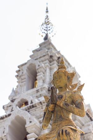 asian angel: Thai angel statue in wat Banden, Chiangmai Thailand