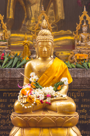 thai buddha: Thai golden buddha statue Stock Photo
