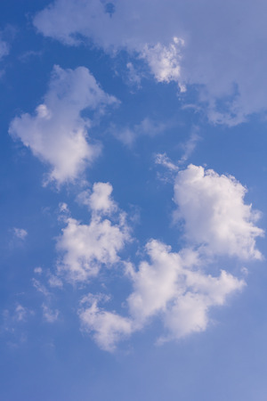 nebulosity: clouds in the blue sky, background