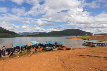 Ship at Mae Ngad Dam and Reservoir in Mae Taeng Chiang Mai  Thailand
