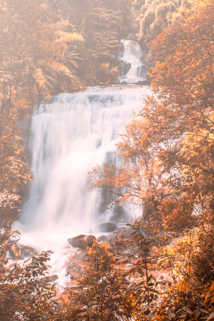 Sirithan waterfall in Doi Inthanon , Chomthong chaingmai Thaland