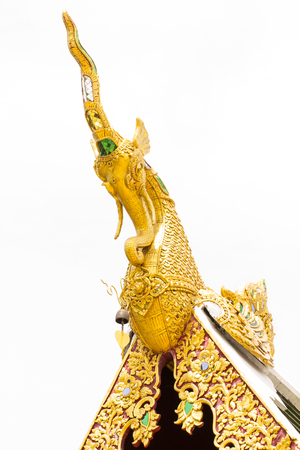 apex: Golden Hussadeeling Statues gable apex isolated
