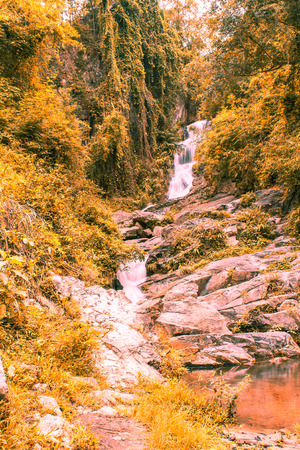 hauykeaw waterfall in Doi Suthep-Pui Nationnal Park , chaingmai Thaland