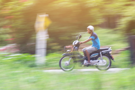 panning: Motorcycling Panning In Thailand