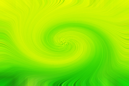 Beautiful green yellow smooth spiral circles background