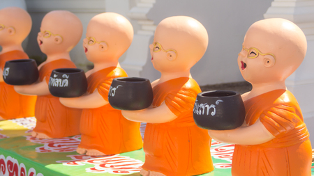Clay Monk Happy Statues, Thai style