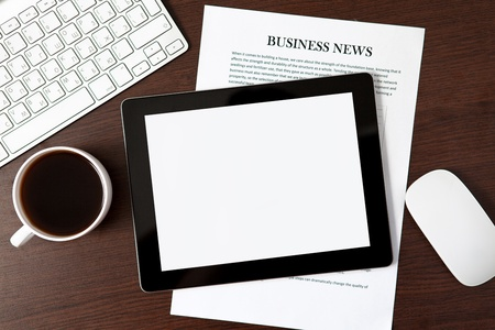 computer tablet on the table of a businessman Stock Photo - 16798967