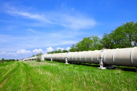 Tuyauterie industrielle avec le gaz et le pétrole