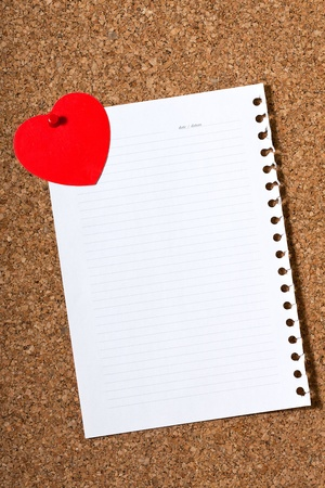 holiday card with a heart on a white sheet photo