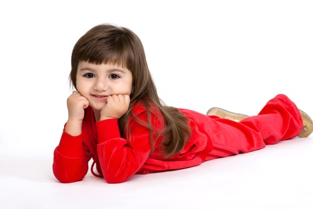 isolated closeup portrait of a little girl  Stock Photo - 18178614