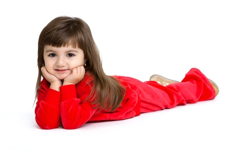 offend: isolated closeup portrait of a little girl isolated