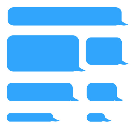 background phone sms chat bubbles in blue colors