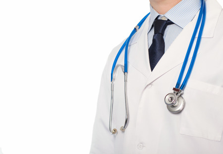 Doctor in white coat with a stethoscope photo