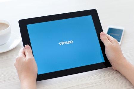 Simferopol, Russia - June 22 2014  Vimeo free video hosting service  Launched in November 2004